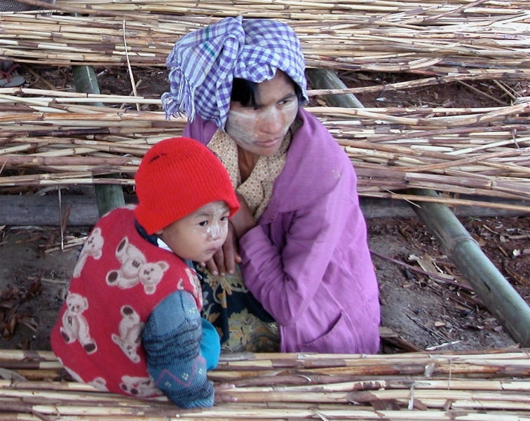 Kachin mother and son